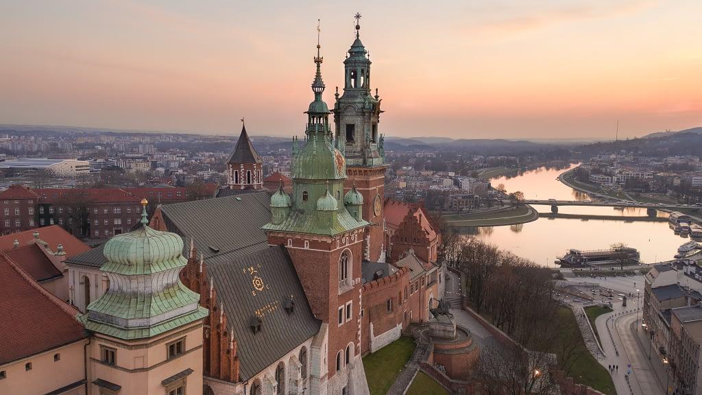 z-drona-Krakow-Wawel-zamek