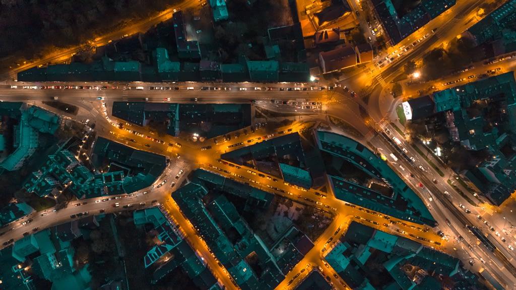fotografia-z-drona-Krakow-topdown