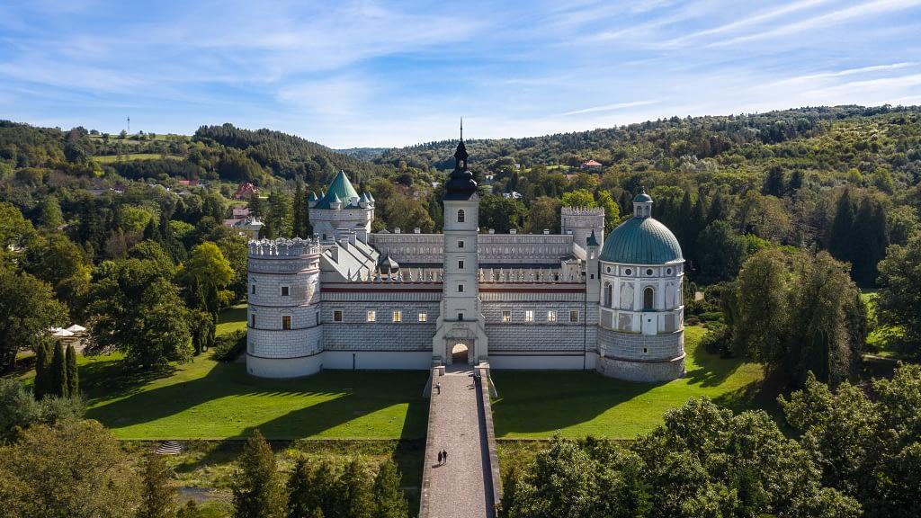 fotografia-z-powietrza-zamek-Przemysl