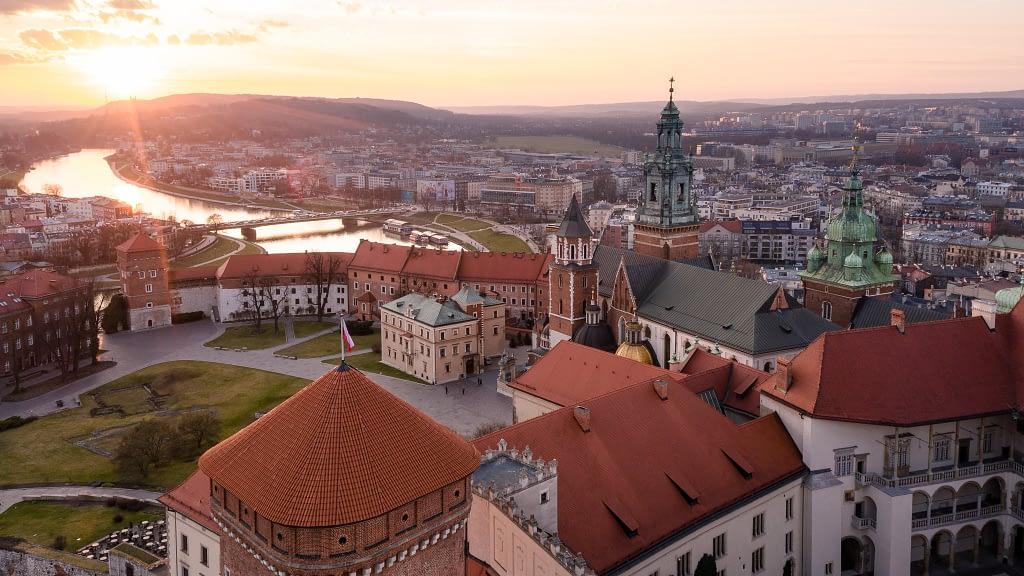 fotografia-z-drona-Wawel-widok