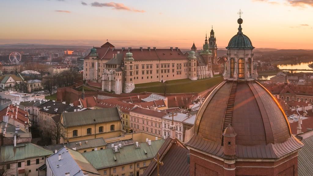 fotografia-z-drona-Krakow-Wawel
