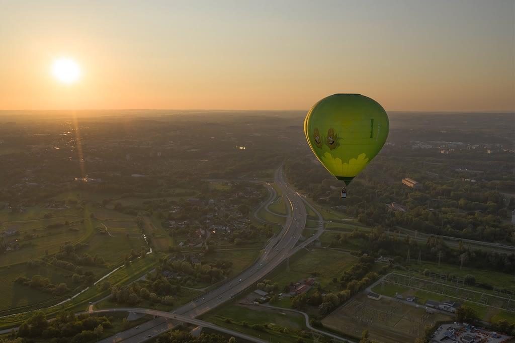 fotografia-z-powietrza-balon-Krakow